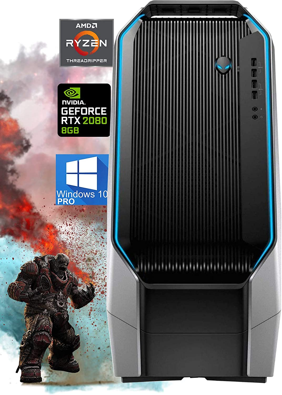 Alienware Area-51 R7 Gaming Desktop, AMD Ryzen Threadripper 2950X Liquid-Cooled, GeForce RTX 2080 8GB GDDR6, 512GB NVMe SSD + 2TB HDD, 64GB RAM, DisplayPort, AC Wi-Fi, Windows 10 Pro (Renewed)