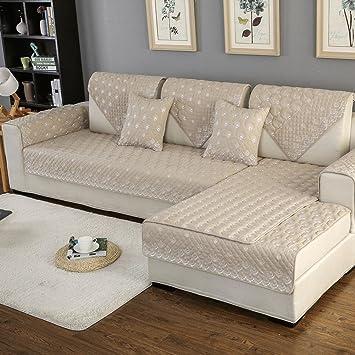 Funda de sofá Protector Fácil de Instalar Sofa Chaise Longue ...