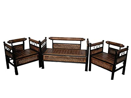 wood and wrought iron furniture. Woodkartindia Wooden Wrought Iron Sofa Set (2+1+1) For Living Room Wood And Wrought Iron Furniture O
