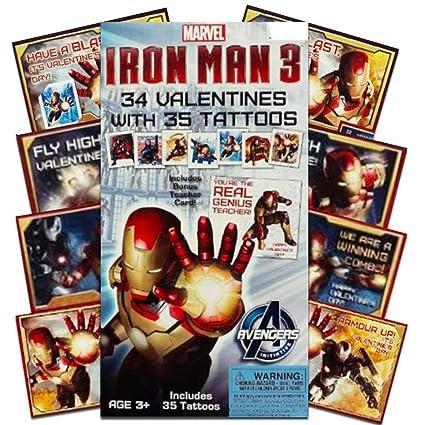 Iron Man tarjetas de San Valentín con 34 Valentines y 35 tatuajes ...