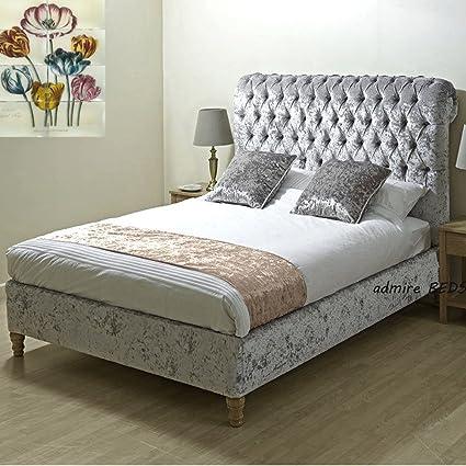 New Royal lujo calidad tapizado estilo Chesterfield trineo marco de ...