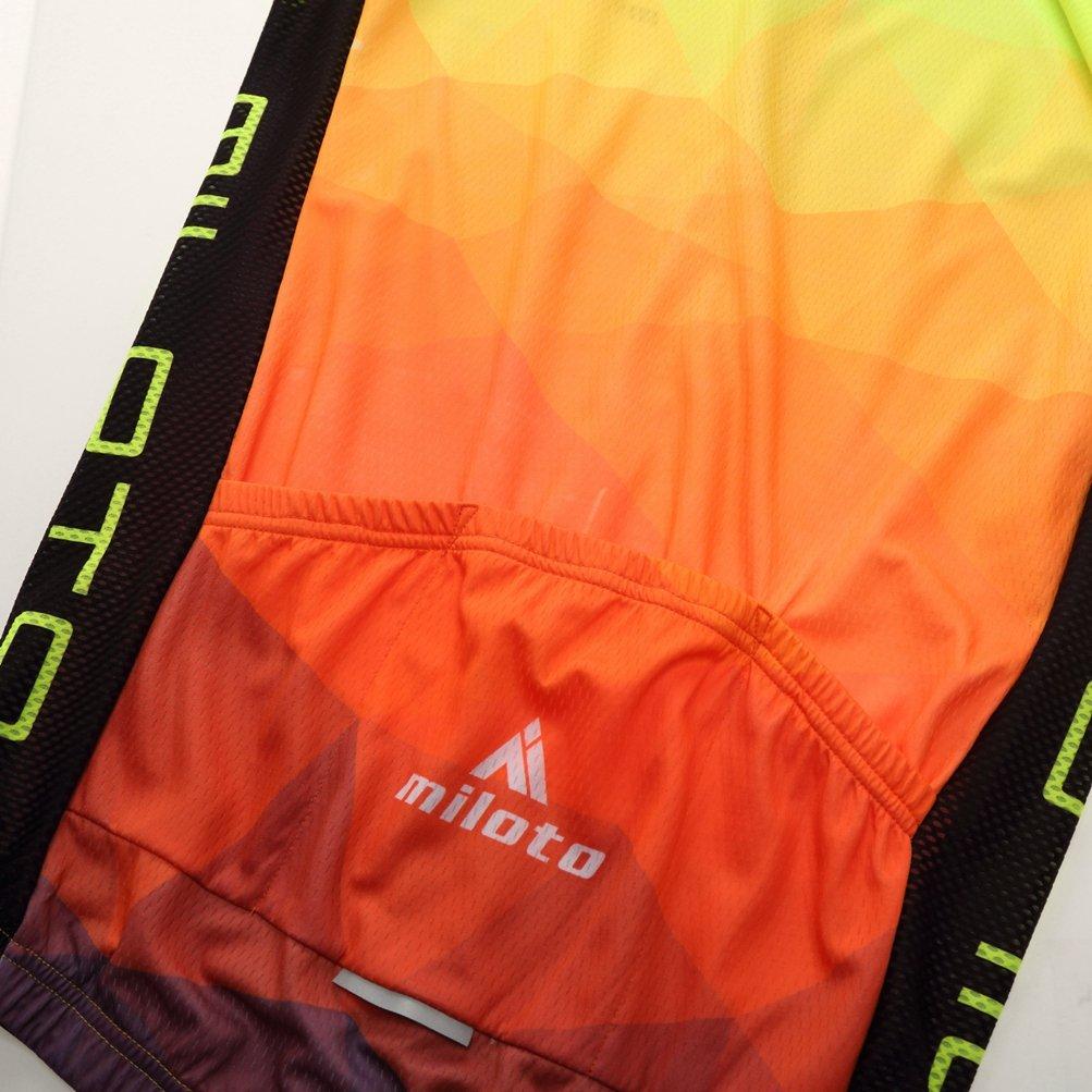 Uriah Mens Cycling Jersey and Shorts Sets Short Sleeve Reflective