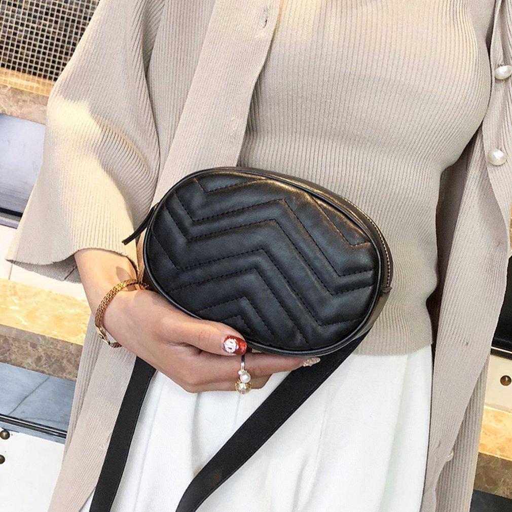 SmingD Waist Bag,Women Fanny Pack Leather Chest Pack Wave Pattern Hip Packs Shoulder Chest Bag Pouch