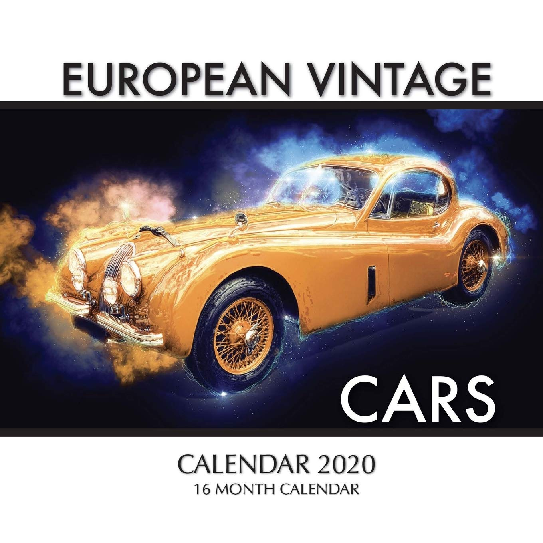 European Vintage Cars Calendar 2020 16 Month Calendar Print