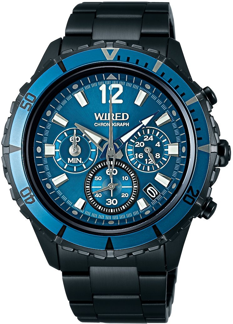 WIRED THE BLUE Chronograph Men's Watch - AGAW430 (Japan Import) by Wired