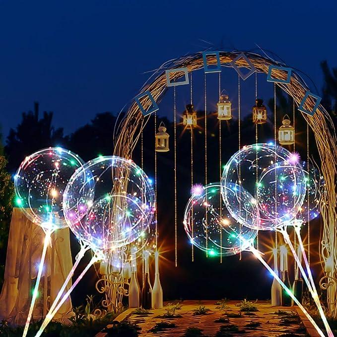 Zmygolon 4 Pcs Wiederverwendbar Luftballons 45 7 Cm 3 M 18 Zoll 9 84 Fuß Led Ballons Für Geburtstage Hochzeiten Feste Dekoration Mehrfarbig Spielzeug