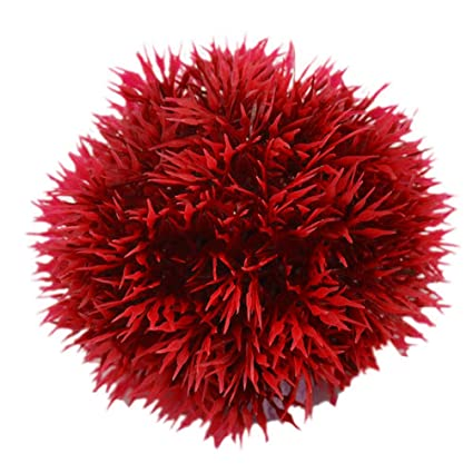 taglia unica Red Pianta acquatica artificiale in plastica decorazione paesaggistica per acquario