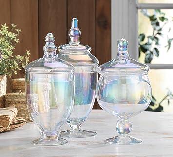 Classic Home Luster troqueles con forma tarros de vidrio, boda Candy Buffet contenedores (Set