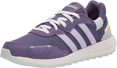 adidas Women's Retrorun Sneaker, Tech Purple Yellow Tint, 7.5