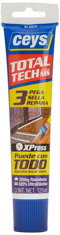 Ceys M112426 - Adhesivo sellador ms-tech blanco 125ml: Amazon.es: Bricolaje y herramientas