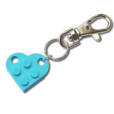 LEGO® Corazón Llavero (azul turquesa) boda, novia, San ...