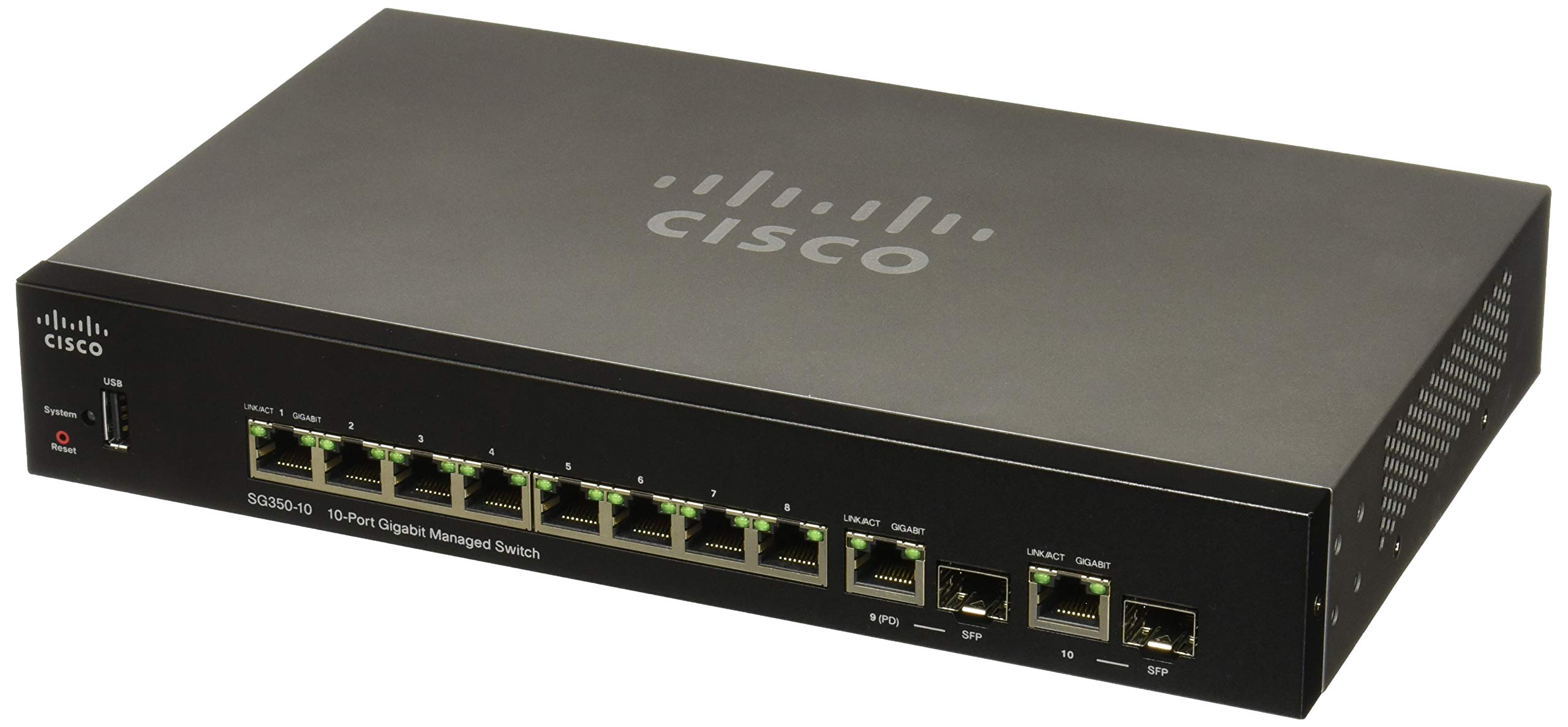 CISCO SYSTEMS Sg350 10-Port Gigabit Managed Switch (SG35010K9NA) by Cisco Systems