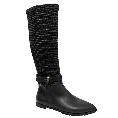 Spot on Damen Stiefel mit Absatz und Reißverschluss (39 EU) (Schwarz) OEUgc0pG