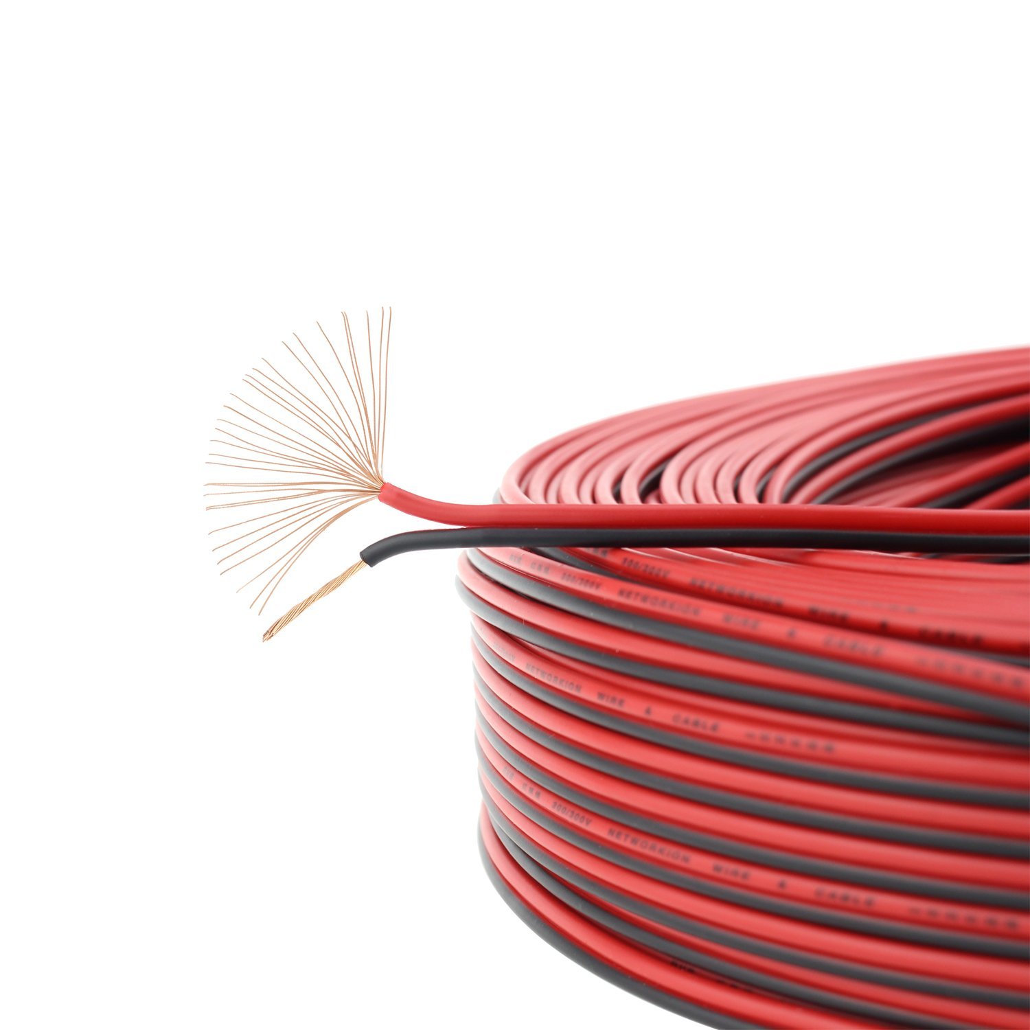 18 Gauge 50ft Red Black Hookup Electrical Wire Simnat Installation Wiring Pictures Cctv Conduits Color Coding Awg Extension Copper Audio Cord Speaker Cable For Led Ribbon Lamp Light Electronics