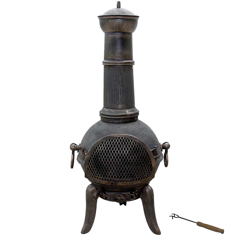 Jago - Estufa de exterior de hierro fundido: Amazon.es: Hogar