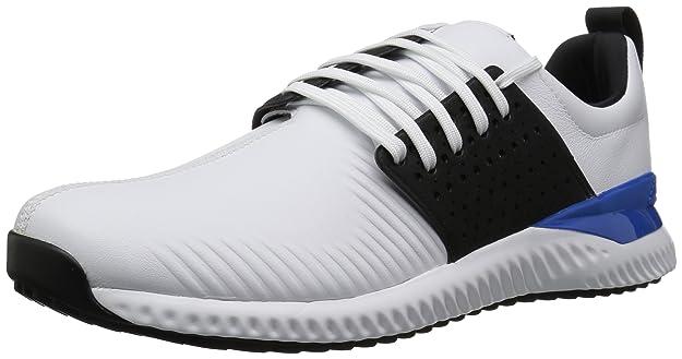 adidas Men's Adicross Bounce Golf Shoe, White/Black/Blue, 7 M US