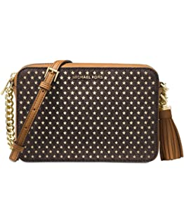ec18bf82dba6 Amazon.com  Michael Kors Medium Ginny Heart Studded Camera Bag ...