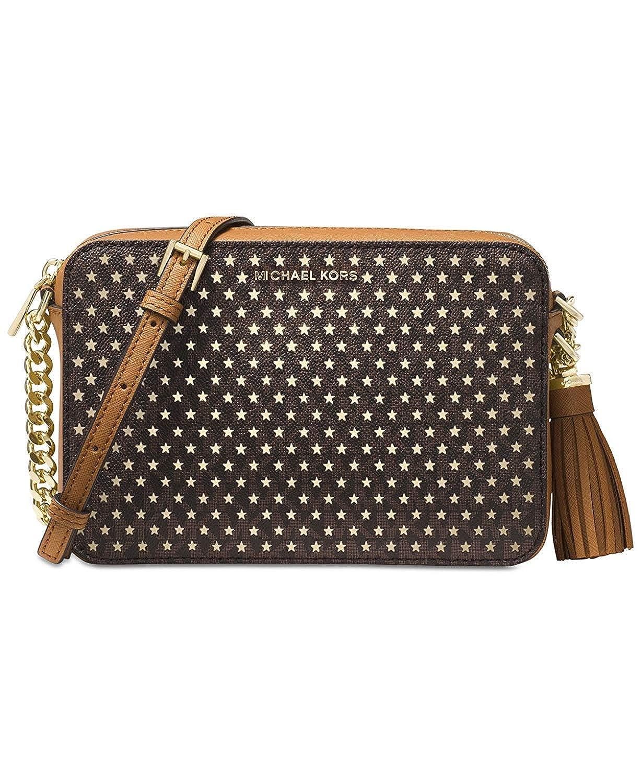 2721cd064e02a9 MICHAEL Michael Kors Ginny Medium Camera Bag (Brown): Handbags: Amazon.com