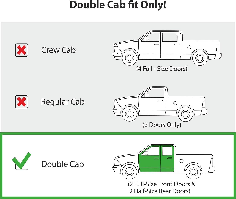 Silverado 2019-2020 Crew Cab Vent Deflector Truck Accessories 4 Pieces Window Visor GY003415LP Chevy Rain Guards Goodyear Shatterproof in-Channel Window Deflectors for Trucks Chevrolet