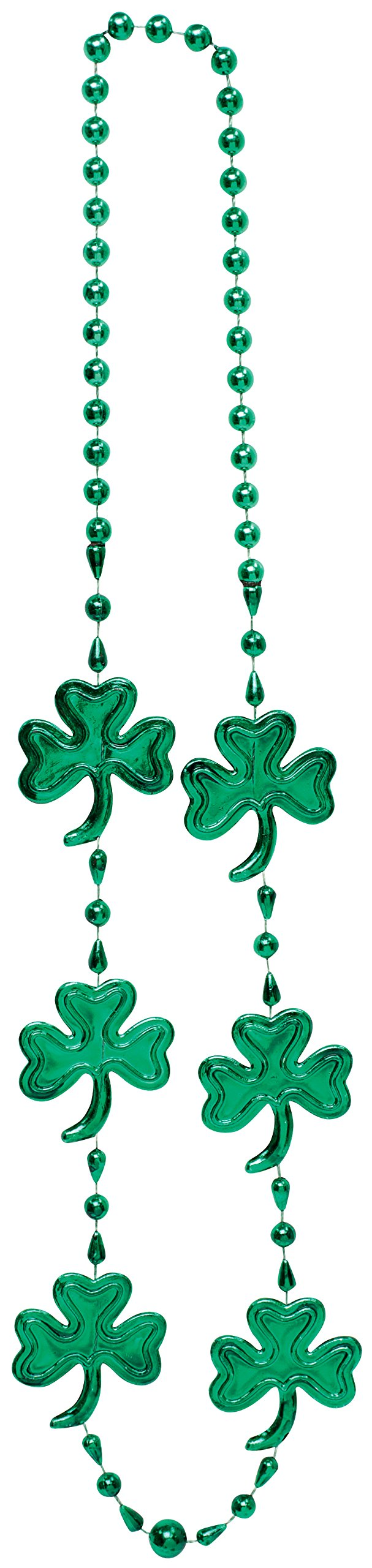 Creative Converting Shamrock Bead Necklace, 36-Inch