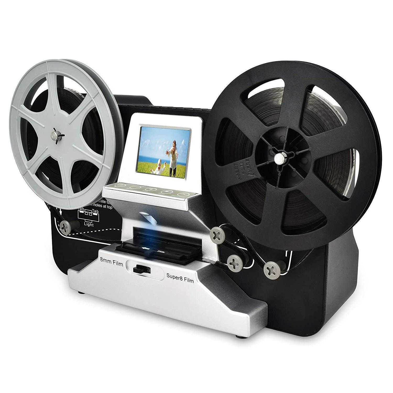 8mm & Super 8 Reels to Digital MovieMaker Film Sanner,Pro Film Digitizer Machine with 2.4'' LCD, Black (Film 2 Digital Movie Maker&8mm Film Scanner) with 32 GB SD Card by Cotok