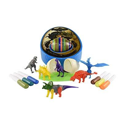 The DinoMazing Dino and Easter Egg Decorator - Includes 2 Dino Eggs with Mystery Dinosaur in Each Egg: Toys & Games