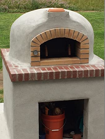 Amazon.com: Outdoor Pizza Oven, Wood Fired, Insulated, W/ Brick Arch U0026  Chimney: Garden U0026 Outdoor