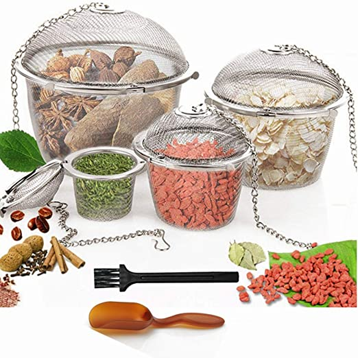 Home Stainless Steel Infuser Strainer Mesh Tea Filter Spoon Locking Spice Ball