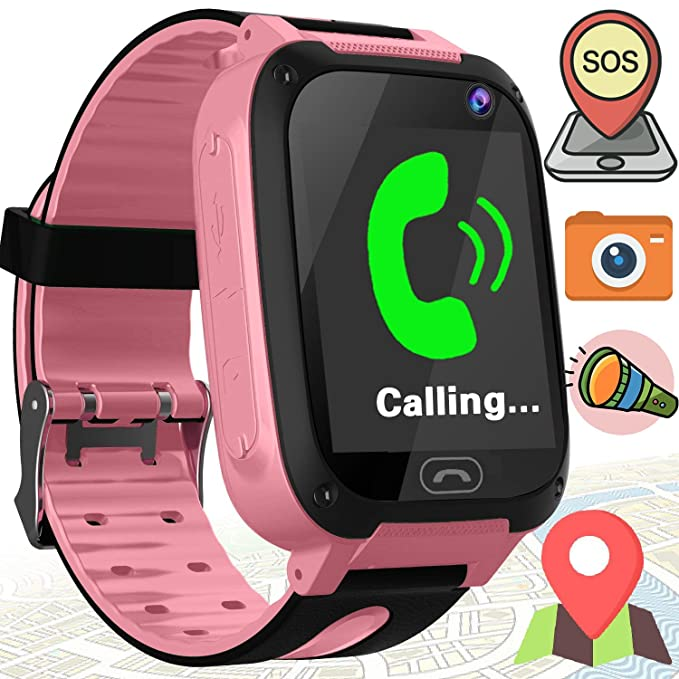 """1.44"""" GPS Tracker Kids Smart Watches Phone with SIM Card Slot for Boys Girls with"""