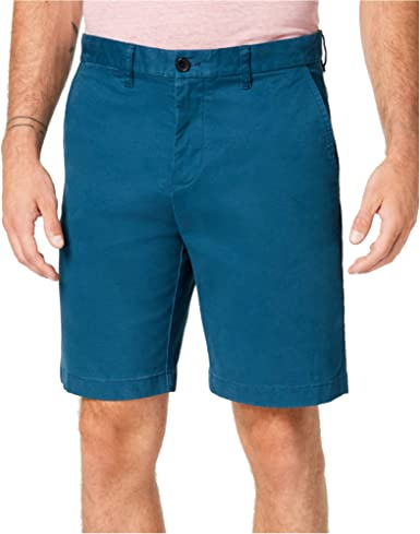 Tommy Hilfiger Mens Classic Fit Tempest Light Blue Casual Walking Shorts NEW!