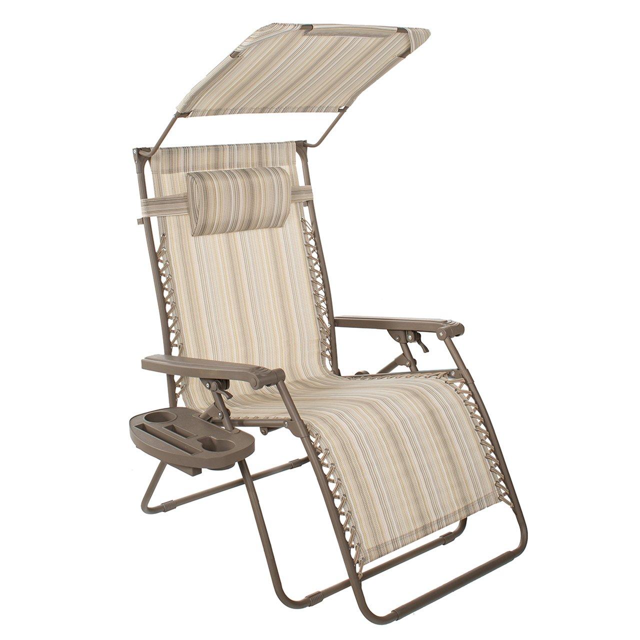 Positivo altitud XXL Gravity silla reclinable de libre con toldo y bandeja: Amazon.es: Jardín
