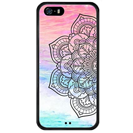 82975547f96 iPhone 5s 5 SE Case With Mandala Colorful Pattern, Amusing Whimsical Design  Bumper Case,