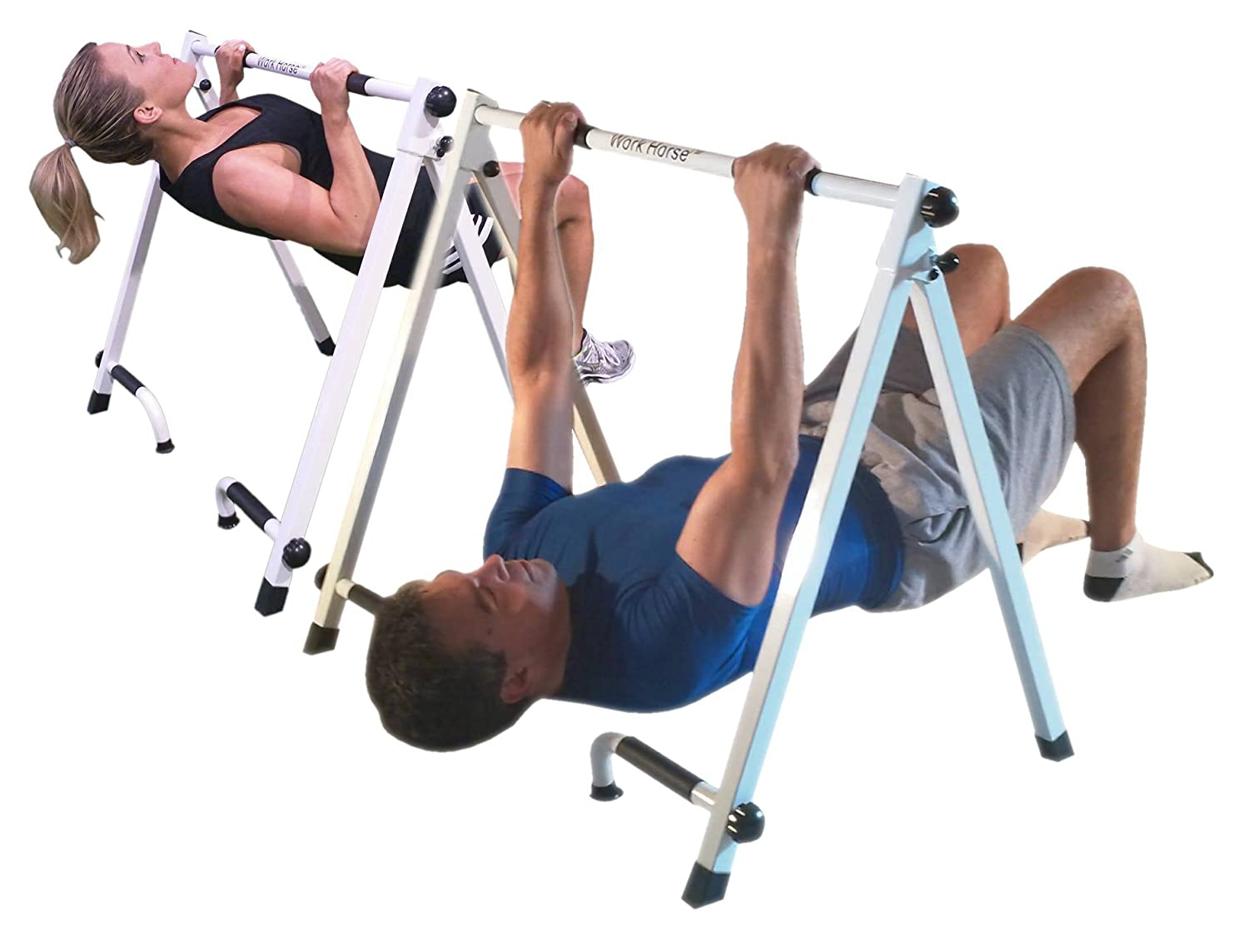 Amazon.com : Portable Pull-up & Push-up Bar - For Inverted Pull-ups ...