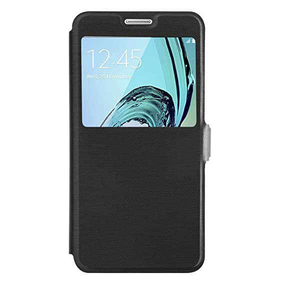 nouvelle arrivée choisir authentique beau look Amazon.com: Galaxy A5 (2016) Case - Black Window Flip Cover ...
