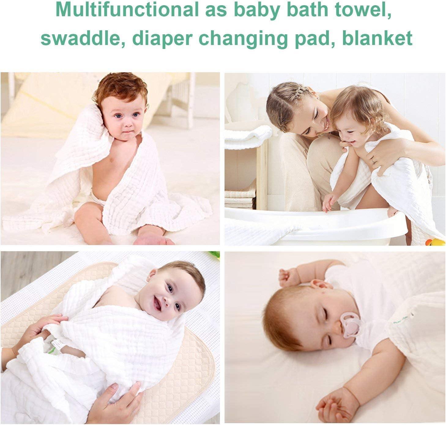 October Elf Baby Bath Serviettes de bain en coton pour b/éb/é Motif ourson