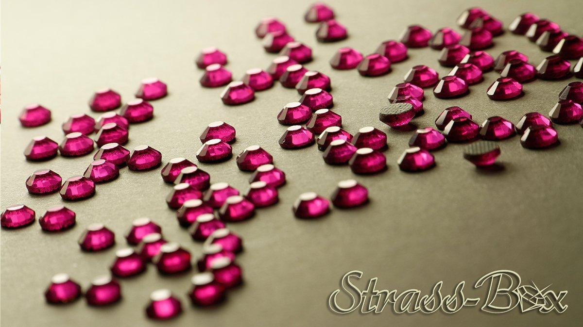 Hotfix DMC Strasssteine FUCHSIA SS20 St/ückzahl w/ählbar Pink AAA Qualit/ät Strass 50