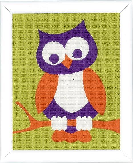 Cotton Multicolour Vervaco Canvas Kit Unicorn 12.5 x 16 x 0,3 cm