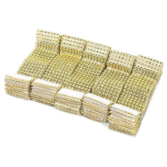 Servilleteros de mesa con forma de anillo, con cierre de velcro, con diamantes, decoración para Navidad, fiestas, bodas, 50 unidades: Amazon.es: Hogar
