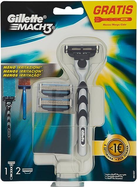 Gillette - Mach3 maquinilla para hombre + 2 recambios: Amazon.es ...