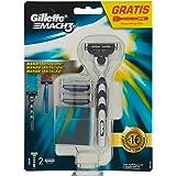 Gillette Mach3 Lamette di Ricambio per Rasoio, Confezione da 2 e 1 Manico Gratis