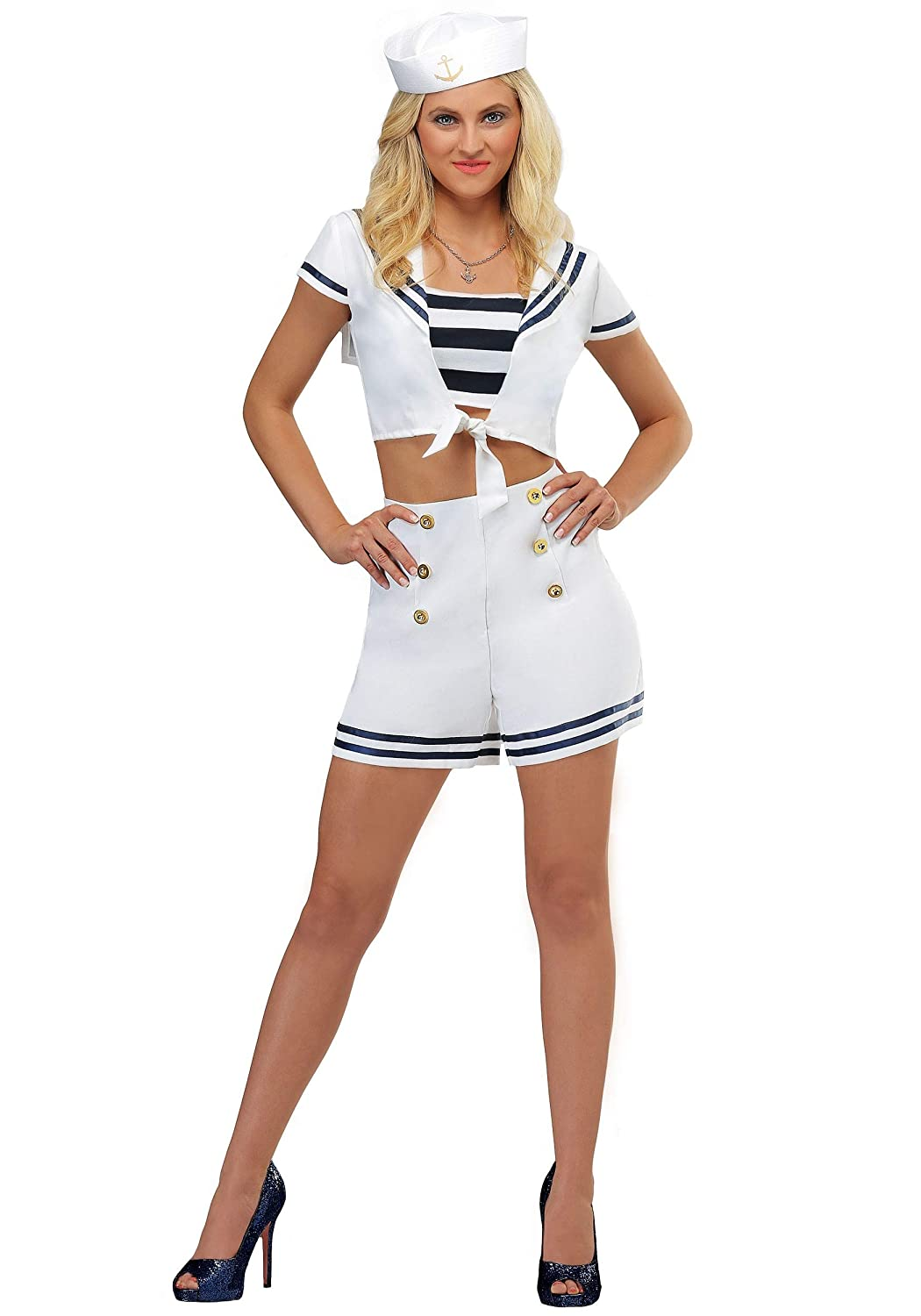Pirate Fancy Dress Lady of the Seas Sailor Costume up to XXL