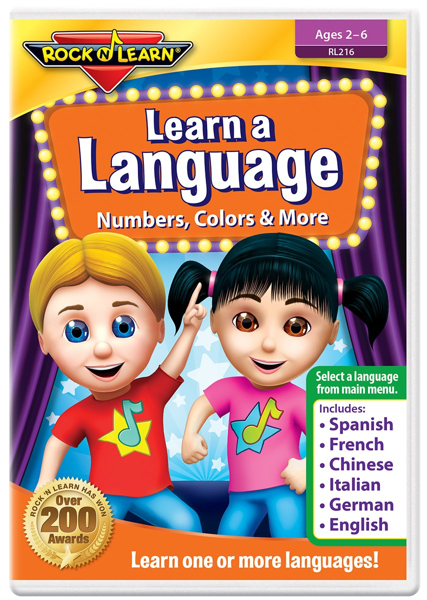 Amazon.com: Learn A Language: Numbers, Colors & More DVD by Rock 'N Learn -  Spanish, French, Chinese, Italian, German & English (6 languages on one  DVD): ...