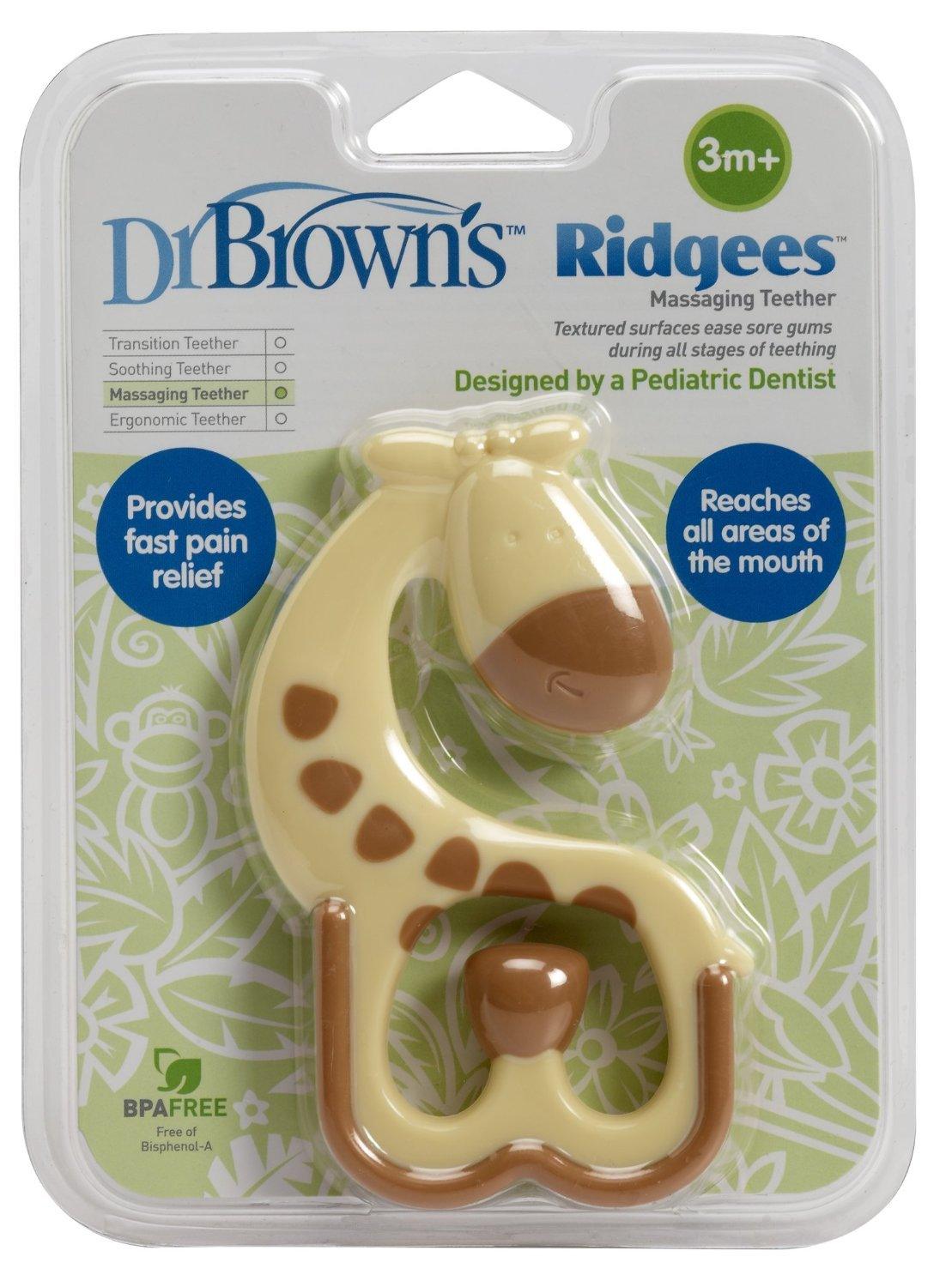 Ridgees Teether Giraffe Dr Brown/'s Set of 2