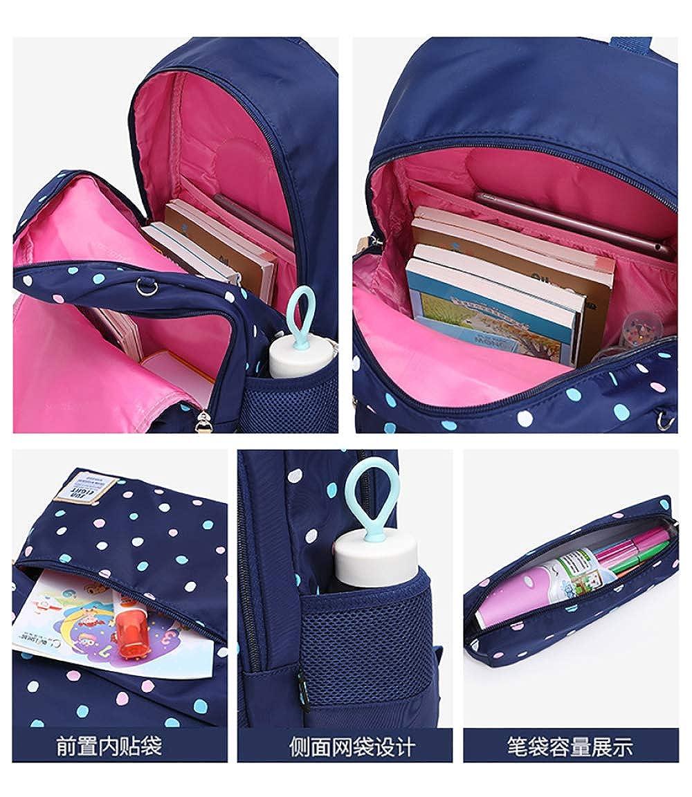 FLHT Mädchen Tasche Tasche Tasche Rucksack Grundschule Wasserdicht Leichte Große Kapazität Oxford 4-6 Grad Campus Kinder Rucksack B07G4DVGDG Kinderruckscke Stilvoll und lustig 955e94