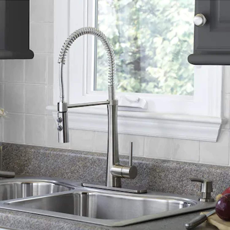 Giagni Fresco Stainless Steel Pull Down Kitchen Faucet Amazon Com