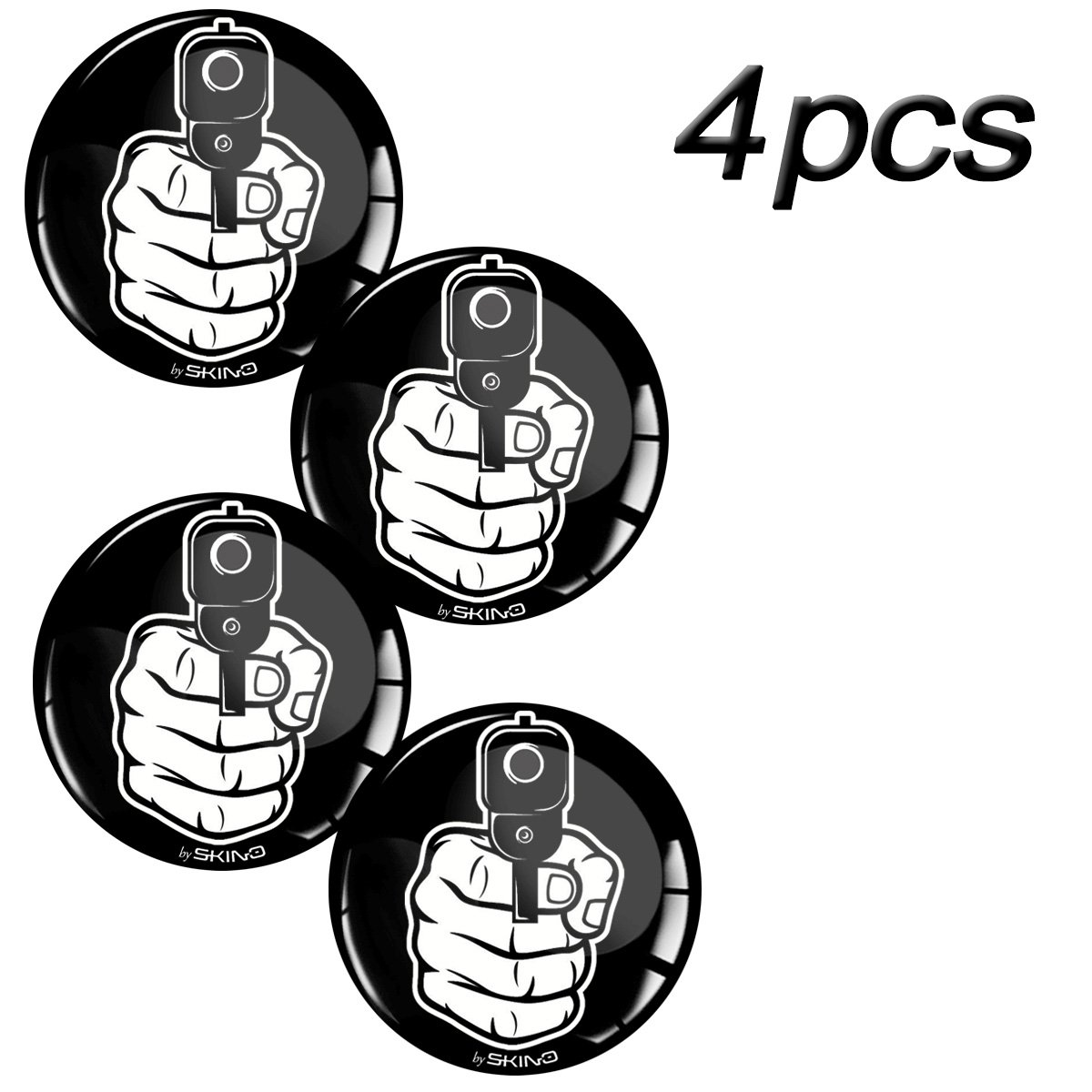 Amazon fr skino 4 x 60 mm stickers 3d gel résine stickers voiture caches roues logo silicone autocollant emblème sticker enjoliveurs bouchons roues