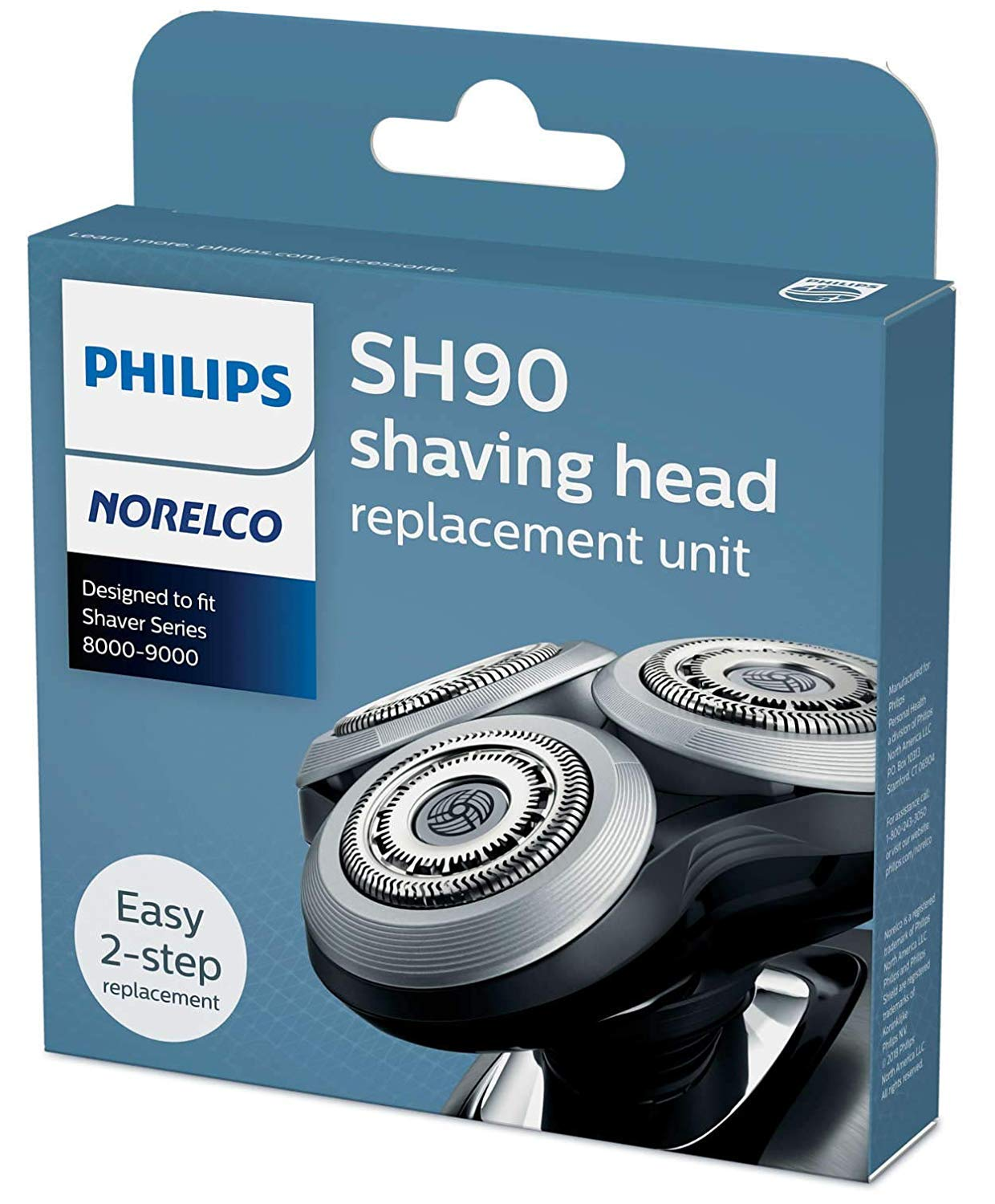 Philips Norelco SH90/72 Replacement Heads New Version for Series 9000 (Replaces SH90/62)