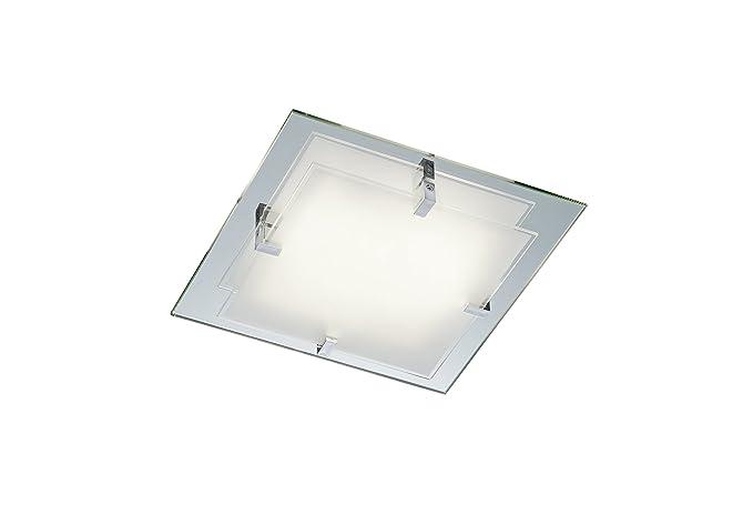 Trio  lampada da soffitto con vetro riflettente due