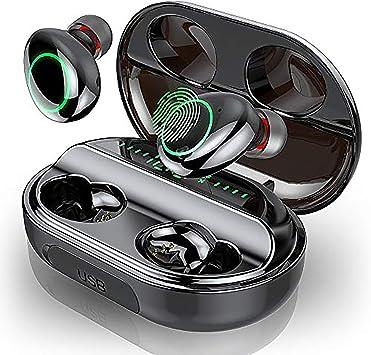 Motast Auriculares Bluetooth, Auriculares Inalámbricos Bluetooth 5.0, IP8 Impermeable Auriculares Inalámbricos Deporte, 3500mAh Caja de Carga, HI-FI Estéreo Micrófono, Pantalla LCD, Control Tactil: Amazon.es: Electrónica