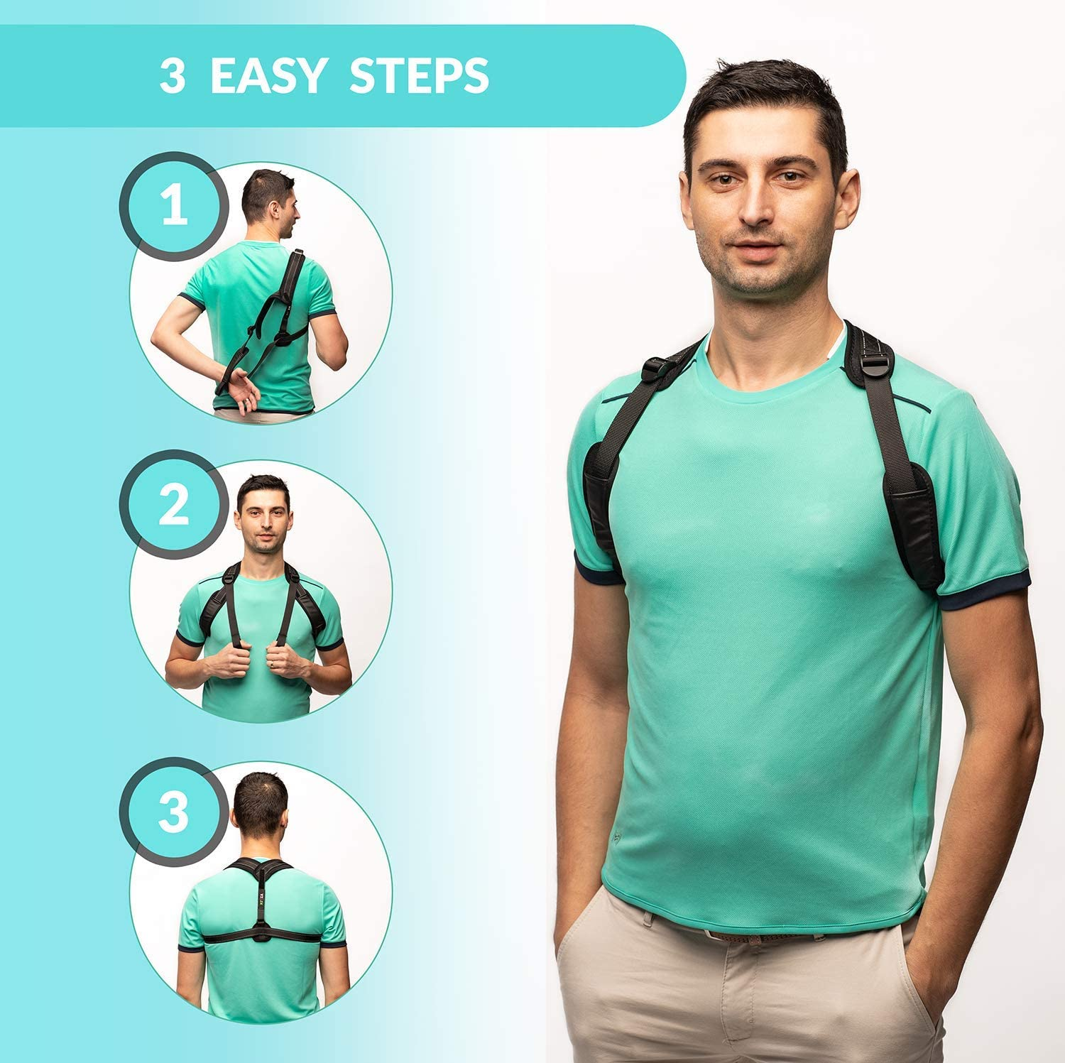 Posture Corrector Device 28-50 BPC Utilites Posture Support for Women /& Men Chest Corrects Slouching Hunching /& Bad Posture Posture Corrector Under Clothes for Women and Men